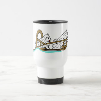 Samoyeds in Sled Travel Mug