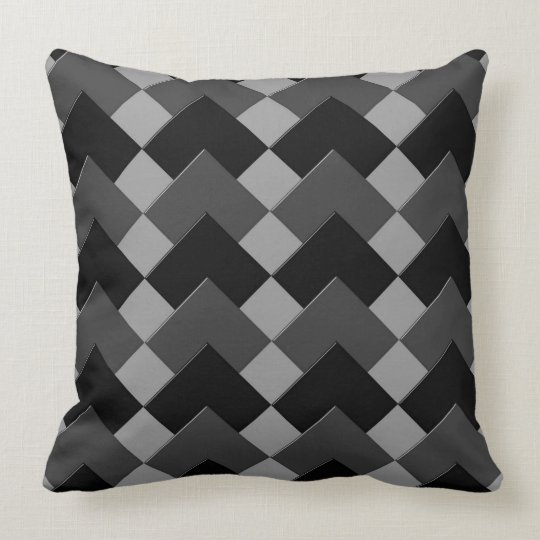 Sample (black and anthracite coal) throw pillow