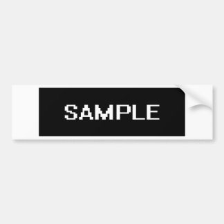 sample bumper sticker