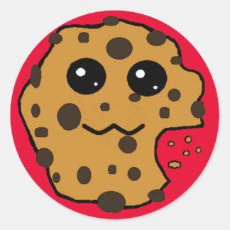 Sample Circle Chocolate chip cookie sticker. Round Sticker