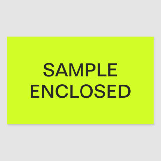 Sample Enclosed Shipping Labels