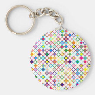 Sample lozenges pattern dia. moon basic round button keychain