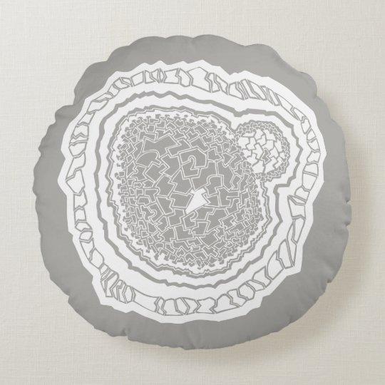 Sample Mandala geometry core Round Pillow