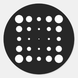 Sample of circles circles pattern round sticker