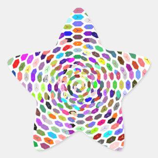 Sample of hexagons pattern hexagon star stickers