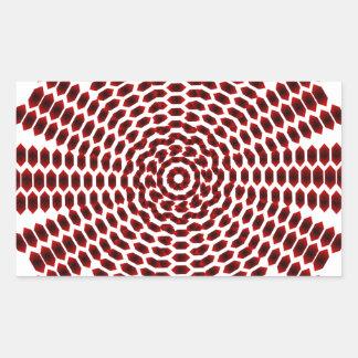 Sample of hexagons pattern hexagon rectangle sticker