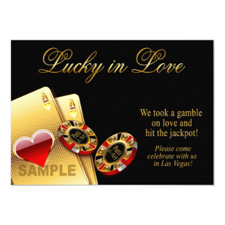 SAMPLE ONLY Casino Style Wedding Paper: semi-gloss Card