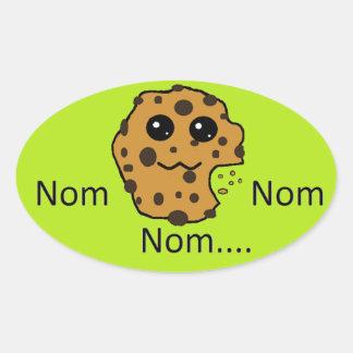 Sample oval Nom Nom Nom... cookie sticker. Oval Sticker