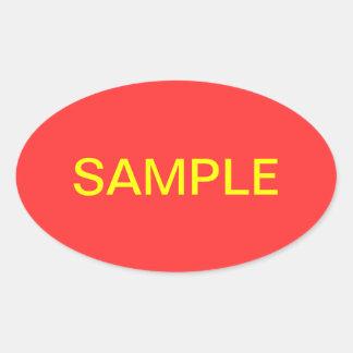 Sample Oval Sticker