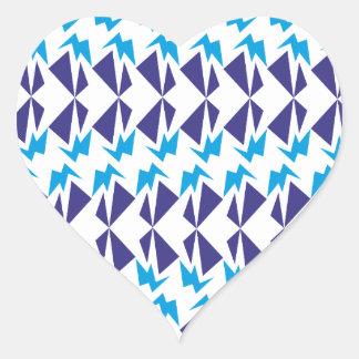 Sample pattern heart stickers