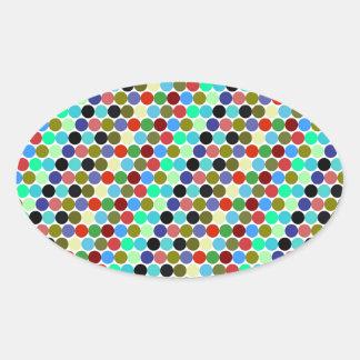 Sample scores oval sticker