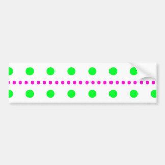 sample scores polka dots spots dabs more tupfer bumper sticker