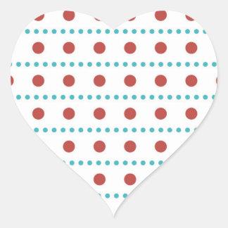 sample scores scored dotted polka dots heart sticker