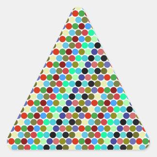 Sample scores triangle sticker