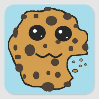 Sample Square Chocolate Chip cookie stickers