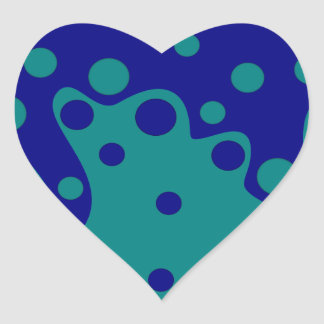 Sample waves blisters pattern waves bubbles heart sticker