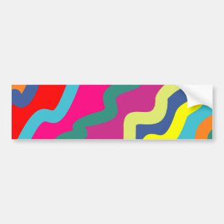 Sample waves pattern waves bumper sticker