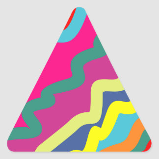 Sample waves pattern waves triangle sticker