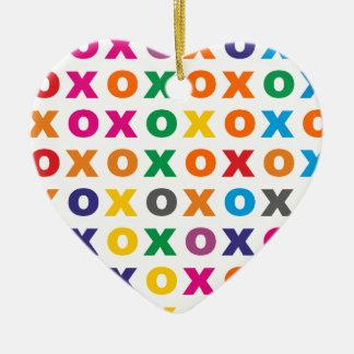 Sample XOXO pattern hugs kisses Ceramic Ornament