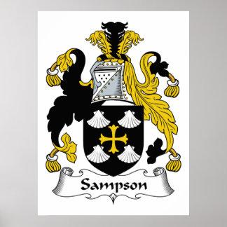 Sampson Family Crest Poster