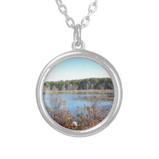 Sams Lake Bird Sanctuary Silver Plated Necklace