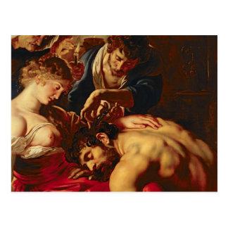 Samson and Delilah, c.1609 Postcard