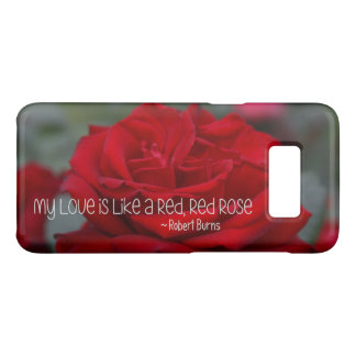 Samsung Barely There Case My Love Red Rose