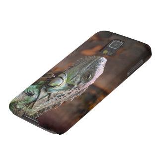 Samsung Galaxy Case with colourful Iguana lizard
