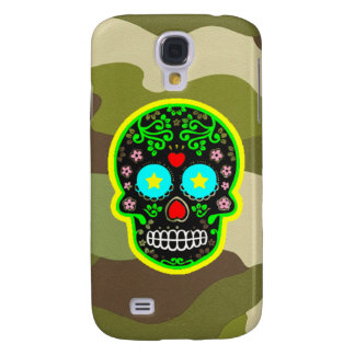 Samsung Galaxy S4 camouflage mexican skull