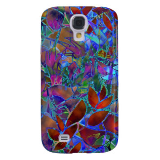 Samsung Galaxy S4 Floral Abstract Stained Glass
