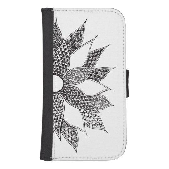 Samsung Galaxy S4 Flower Wallet Case Galaxy S4 Wallet Cases