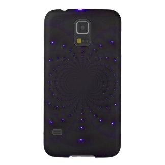 Samsung Galaxy S5 Case - black / purple wave form