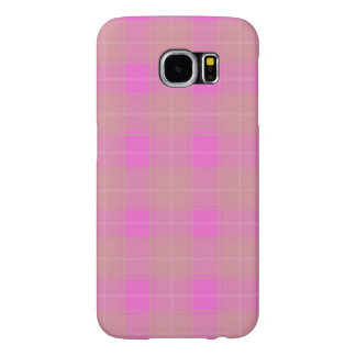 Samsung Galaxy S6, Barely There-Plaid Pink/White Samsung Galaxy S6 Cases