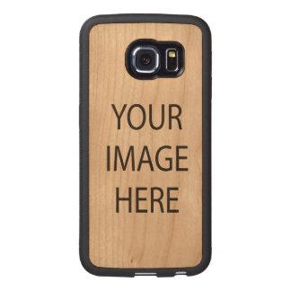 Samsung Galaxy S6 Edge Bumper Cherry Wood Case