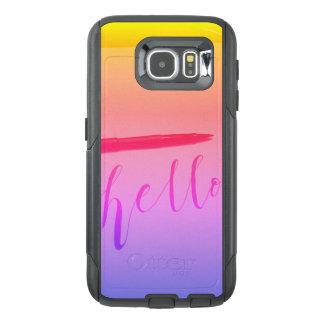 Samsung Galaxy S6 Otterbox Calligraphy Hello Case