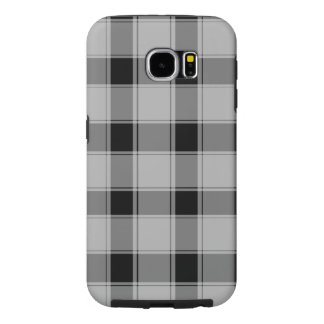 Samsung Galaxy S6, Tough - Plaid Black Samsung Galaxy S6 Case