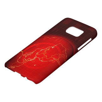 Samsung Galaxy S7, Barely There RED DIGITAL EARTH Samsung Galaxy S7 Case