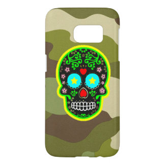 Samsung Galaxy S7 camouflage mexican skull Samsung Galaxy S7 Case