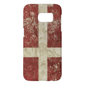 Samsung Galaxy S7 case with flag of Danish