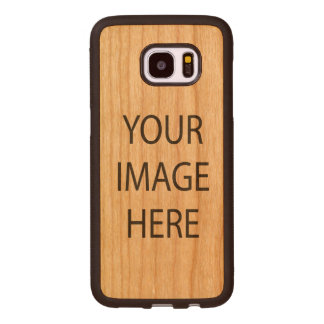 Samsung Galaxy S7 Edge Bumper Cherry Wood Case