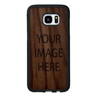 Samsung Galaxy S7 Edge Bumper Walnut Wood Case