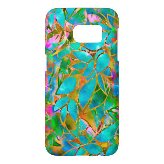 Samsung Galaxy S7 Floral Abstract Stained Glass Samsung Galaxy S7 Case