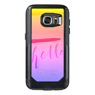 Samsung Galaxy S7 Otterbox Calligraphy Hello Case