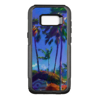 Samsung Galaxy S8 Case and Modern Palms Art