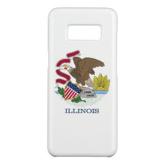 Samsung Galaxy S8 Case with Illinois Flag
