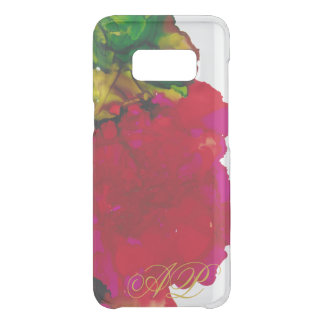 """Samsung Galaxy S8 Clearly """"Magenta Flower"""" Uncommon Samsung Galaxy S8 Case"""