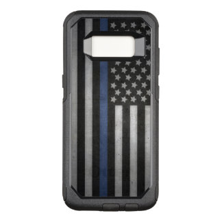 Samsung Galaxy S8 Thin Blue Line Otterbox Commuter