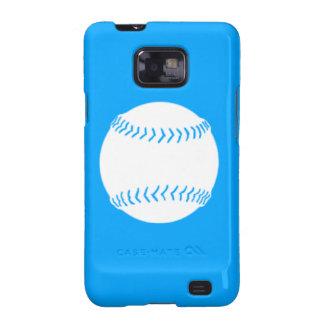 Samsung Galaxy S Softball White on Blue Samsung Galaxy SII Cases