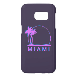 Samsung S7 Miami cover- pink and light blue Samsung Galaxy S7 Case