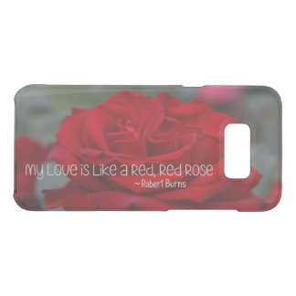 Samsung S8+ Clearly Deflector My Love Red Rose Uncommon Samsung Galaxy S8 Plus Case